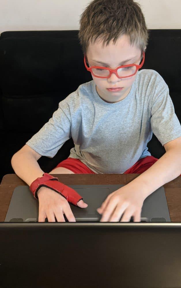 child doing CTCMath lesson