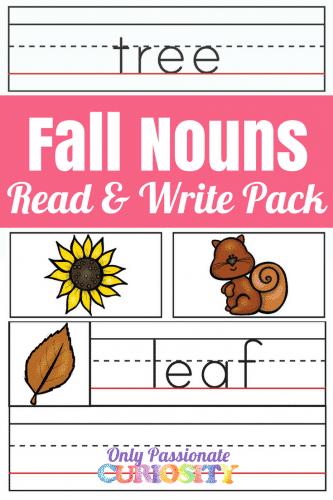 fall nouns pack