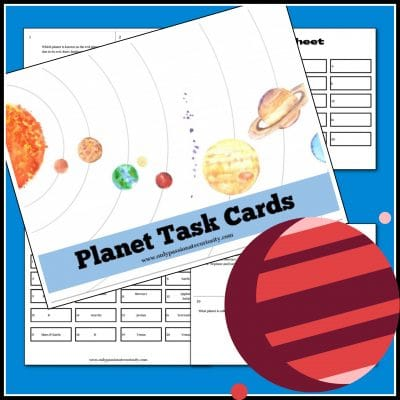 The Planet Task Cards we are sharing with you today are ready to print and use. They will reinforce some of the things your children have already learned about the solar system