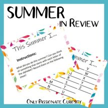 summer in review printable