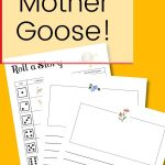 Use this fun printable to play a Mother Goose themed roll-a-story in your homeschool that will inspire creativity and foster language arts and handwriting skills. This printable is perfect to use with elementary – middle school students who are working on sentence writing. It also makes a fun activity that the whole family can enjoy!
