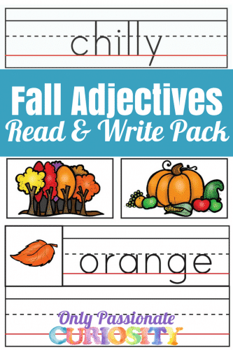 fall adjectives pack