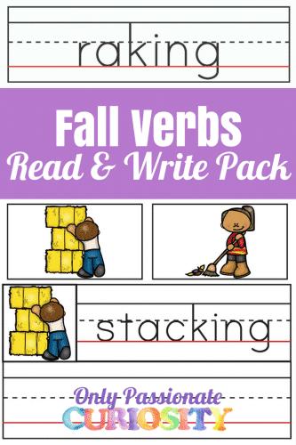 fall verbs pack